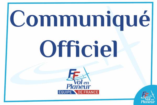 Communiqué officiel Pole France