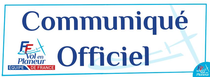 Communiqué Officiel – Comité de sélection des Equipes de France