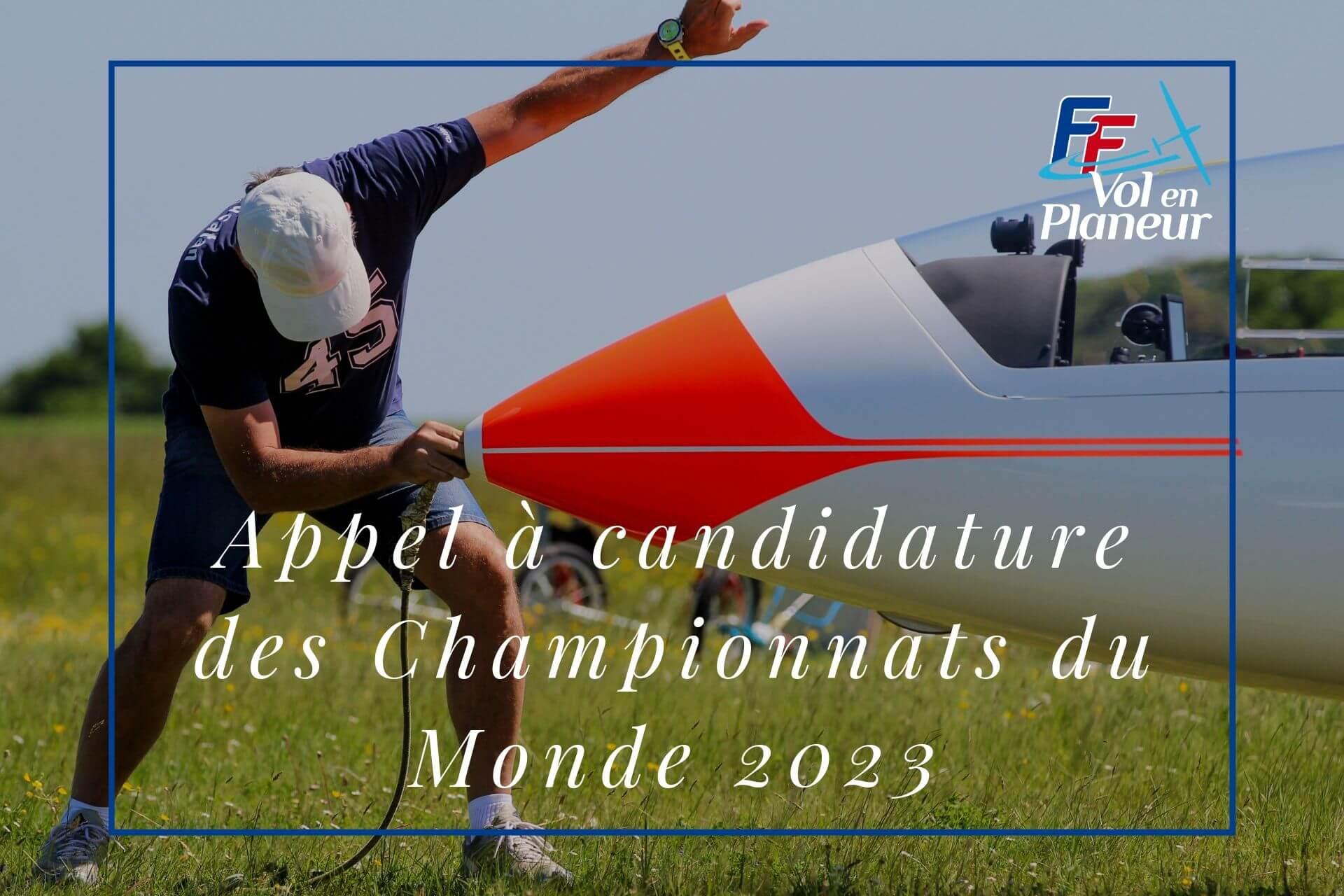 Appel à candidature pour organisation des Championnats du Monde 2023