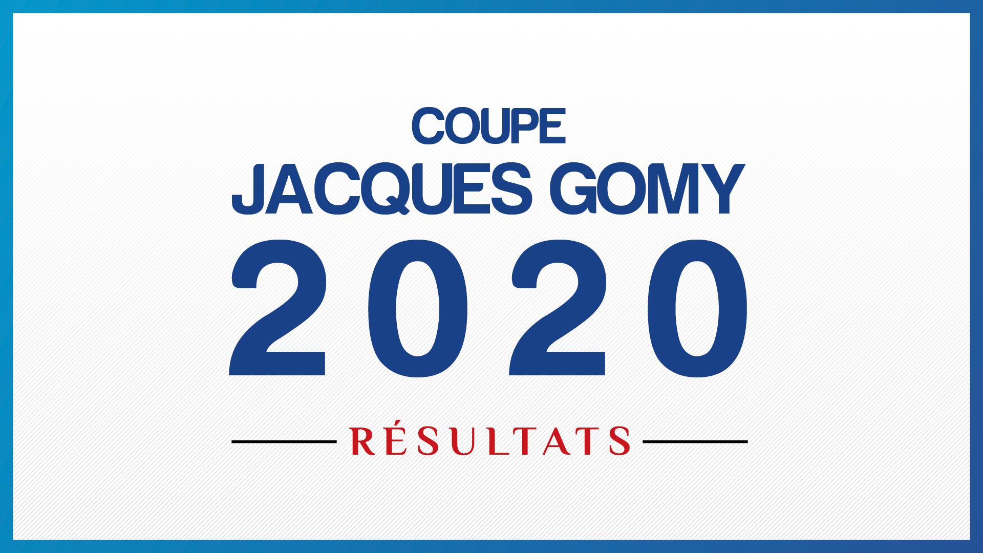 Coupe Jacques Gomy 2020 : les résultats