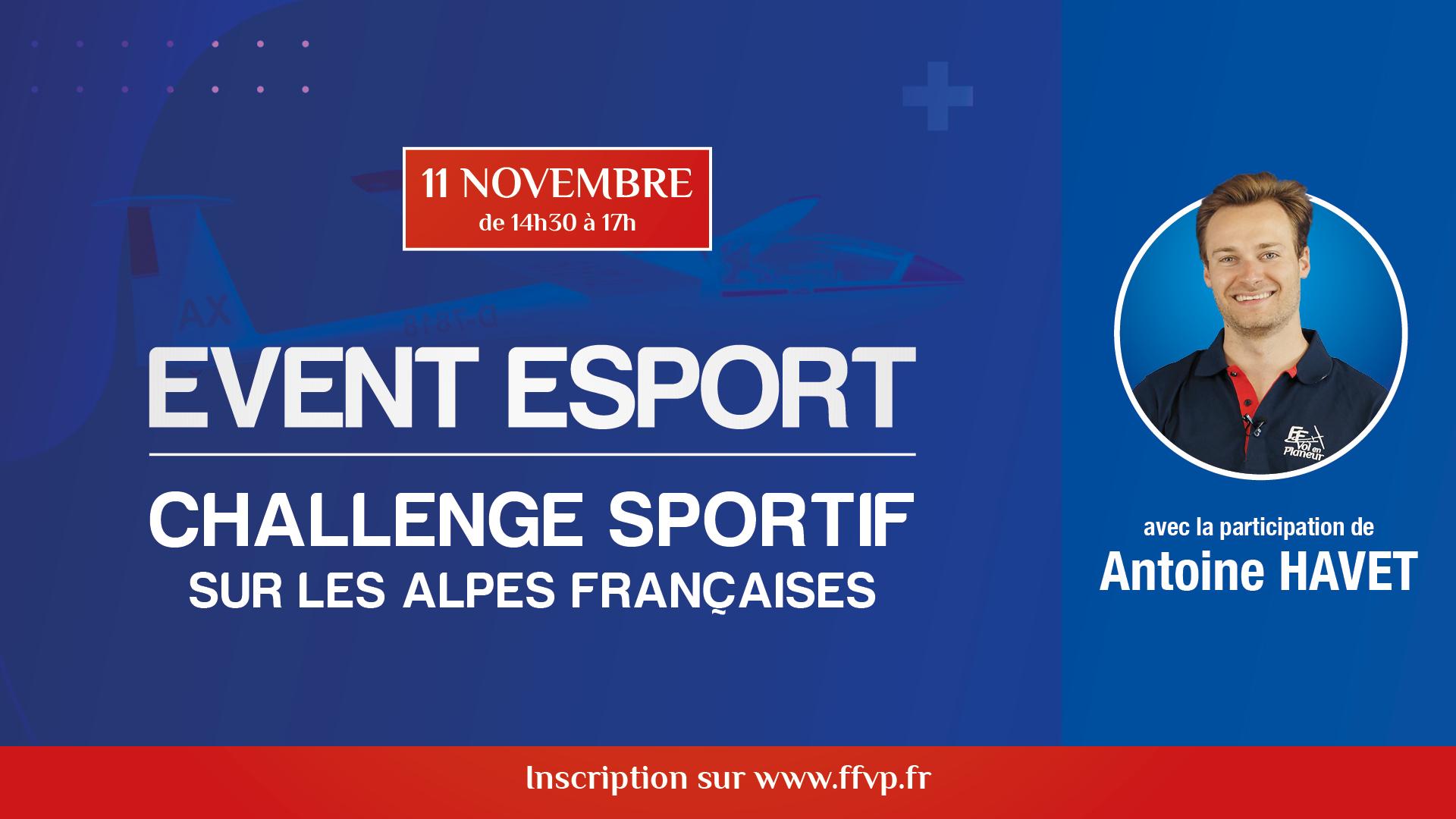"""Event eSport """"Challenge sportif dans les Alpes française"""""""