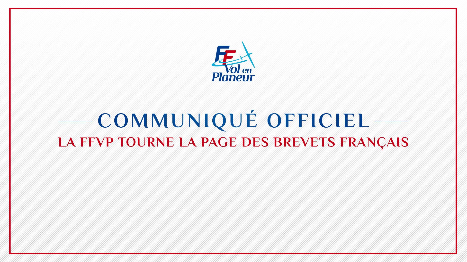 La FFVP tourne la page des Brevets Français